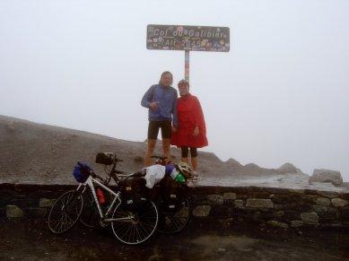 Col du Galibier 2645 m bei Regen und Kälte