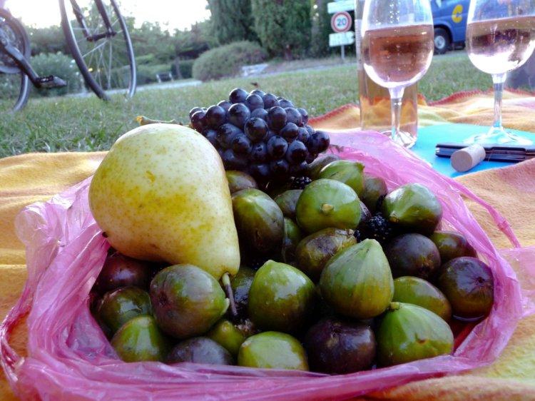 Früchte selbst gepflückt vom Straßenrand
