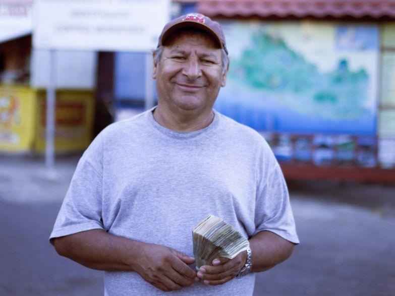 Geldwechsler an der Grenze
