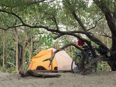Wildcamping auf Playa Pitahaya