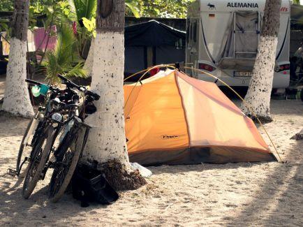 Camping auf Playa Samara