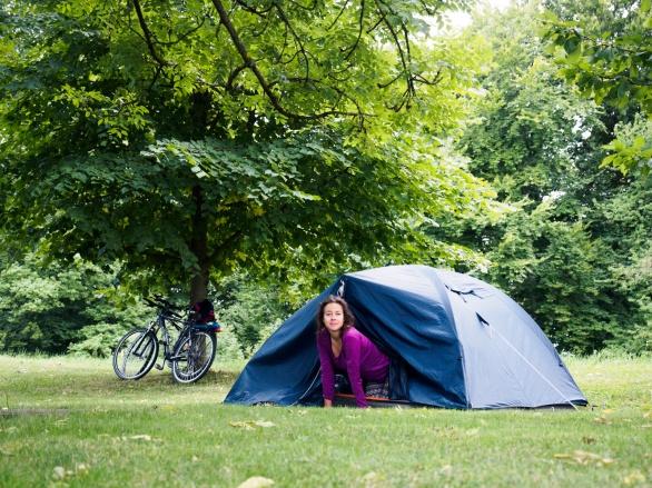 Campen im Privatgarten ;)