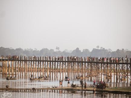 Teak Brücke in Mandalay.