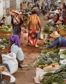 Morgenmarket in pindaya