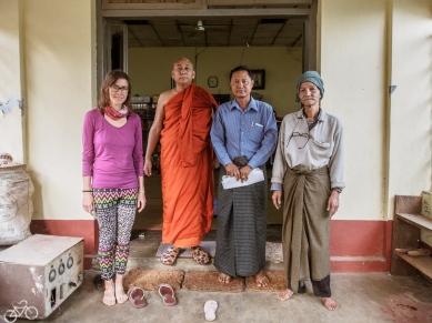 Hier haben wir eine Unterkunft im buddhistischen Kloster gehabt