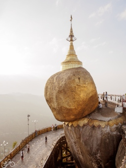 Golden rock is one of the religious highlights in Myanmar