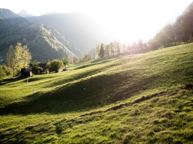 Sonnenuntergang bei Pontebba